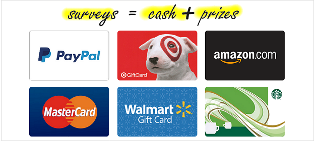 Surveys for Cash, Gift Cards and Rewards