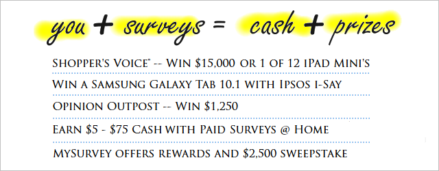 Surveys for Cash and Prizes